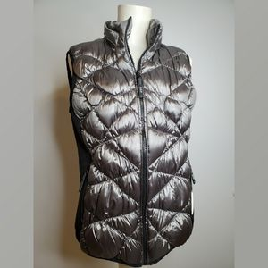 Andrew Marc Performance Gray Puffer Down Vest